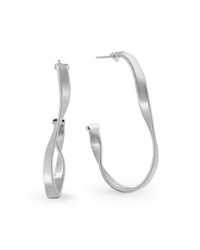 Marrakech Supreme Small Hoop Earrings in 18K White Gold