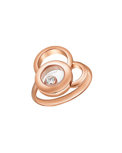 Happy Dreams Ring with Diamond in 18K Rose Gold
