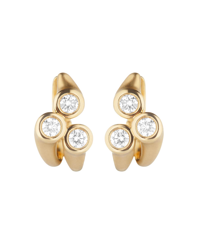 CARELLE Whirl 18K Gold Diamond Cluster Earrings