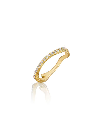 Wonderland Pave Diamond Eternity Band Ring, Size 7