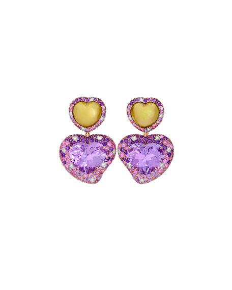 Margot McKinney Jewelry Hearts Desire Rose de France Amethyst Earrings