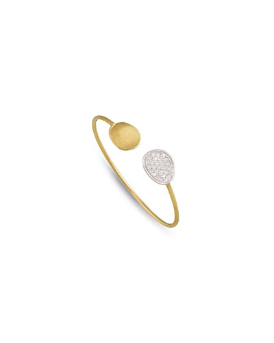 Lunaria Open Cuff Bracelet with Diamonds
