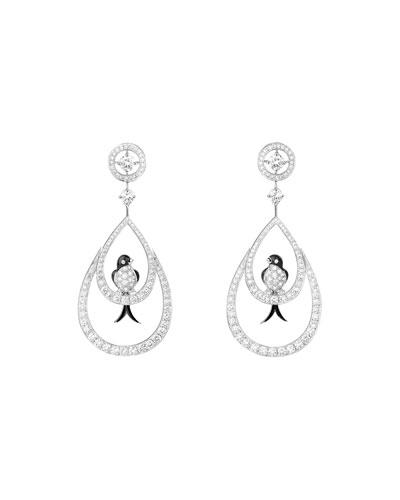 Boucheron 18k Diamond Hummingbird Sleeper Earrings aeSt4JuTYL