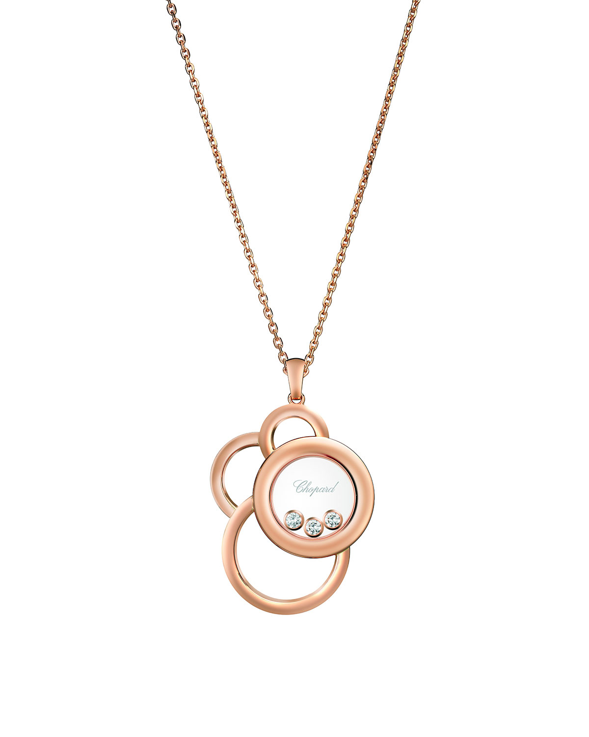 Happy Dream 18k Rose Gold Necklace with Diamonds