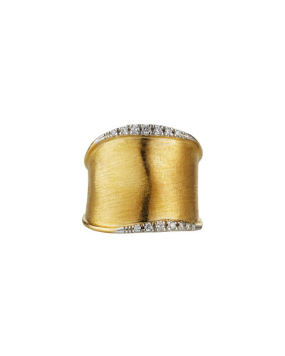 Lunaria Medium Band Ring with Diamonds, Size 7