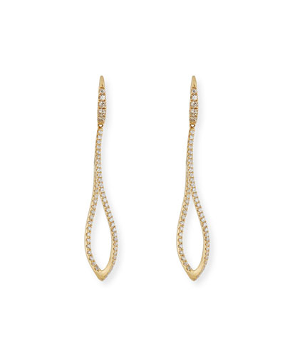 18K Yellow Gold Small Twist Earrings with Diamonds
