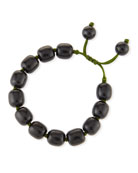 Beaded Black Jade Bracelet