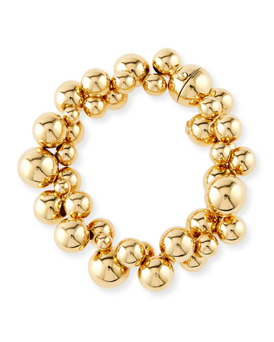 Atomo Large 18K Gold Ball Cluster Bracelet