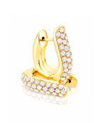 Pavé Diamond Hoop Earrings in 18K Yellow Gold