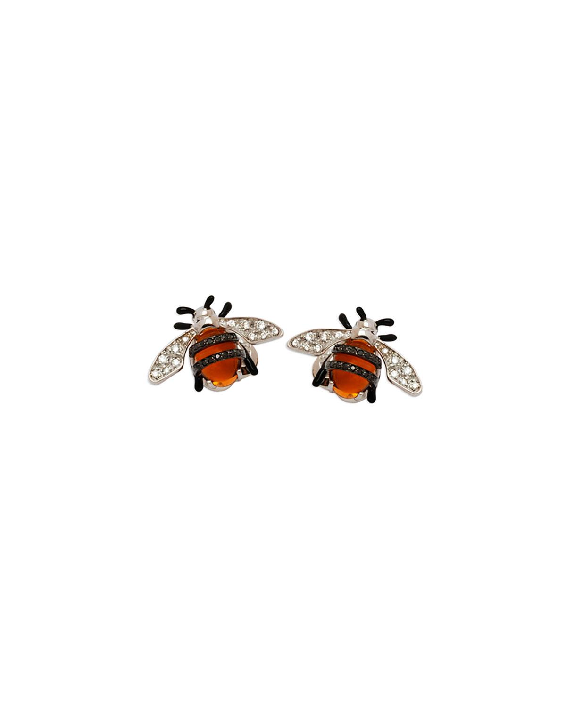 STAURINO FRATELLI 18K Nature Bumble Bee Stud Earrings