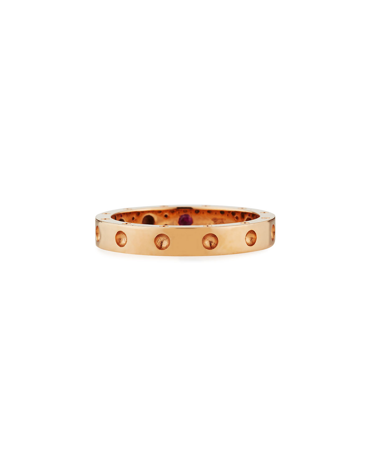 ROBERTO COIN SYMPHONY COLLECTION 18K GOLD POIS MOIS RING, SIZE 6.5