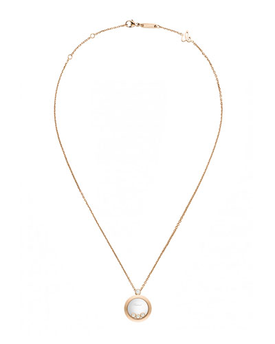 Happy Diamonds 18K Rose Gold Pendant Necklace