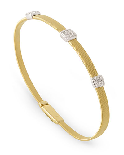 Masai 18K Yellow Gold Bracelet with Diamonds