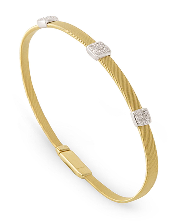 Masai 18K Yellow Gold Bracelet with Diamonds