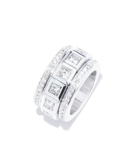 Tamara Comolli CURRICULUM VITAE 18k White Gold Diamond Ring, Size 6-7