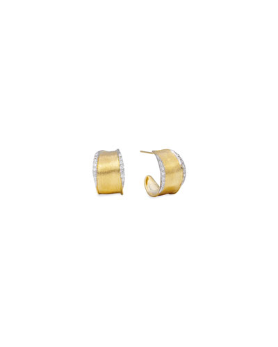 Lunaria Diamond-Trim Hoop Earrings