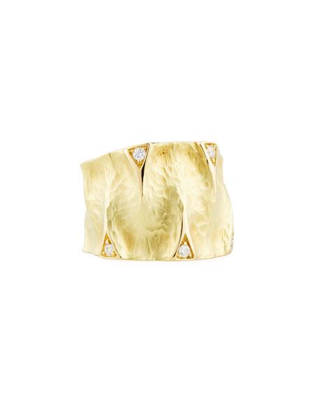 Vendorafa Dune 18K Gold Ring with Diamonds