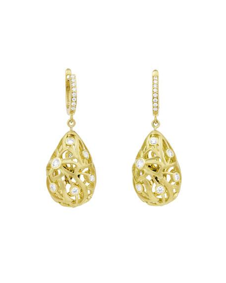Carelle Florette Diamond Earrings in 18K Yellow Gold