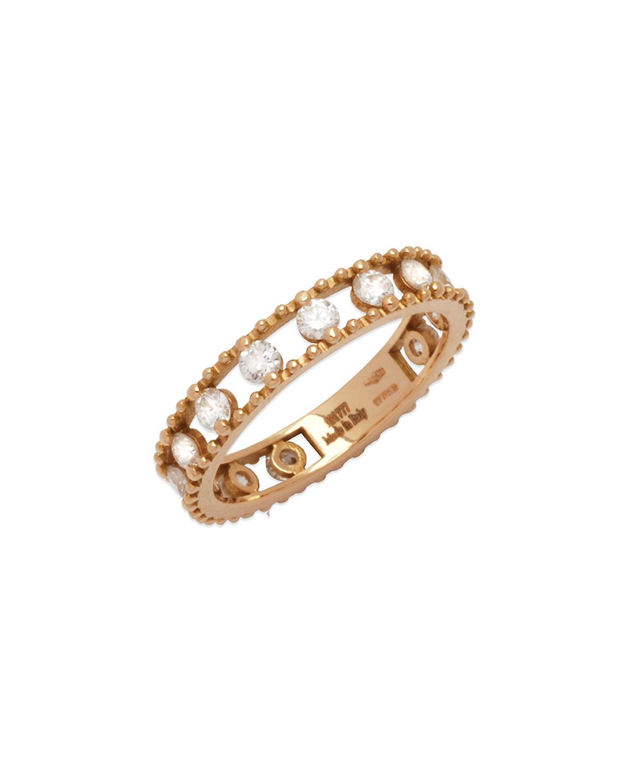STAURINO FRATELLI 18K Rose Gold Allegra Diamond Happy Band Ring, Size 7.25
