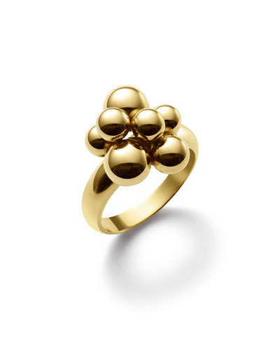MARINA B MINI ATOMO 18K GOLD RING, SIZE 7.5