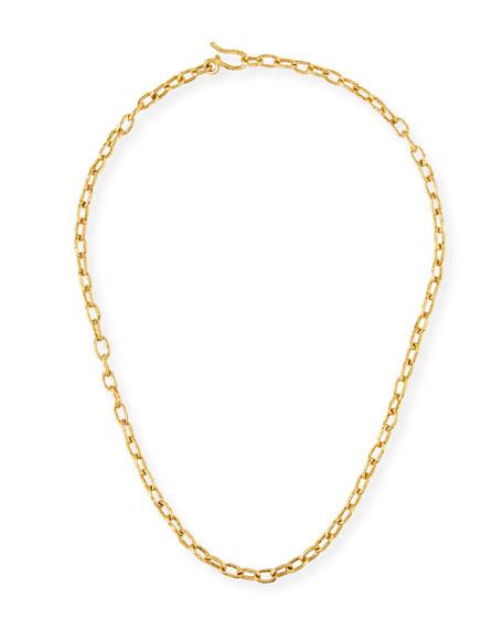 Jean Mahie Cadene 22k Link Necklace
