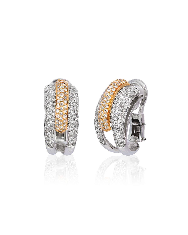 ANDREOLI 18K 2-Tone Gold Diamond Earrings