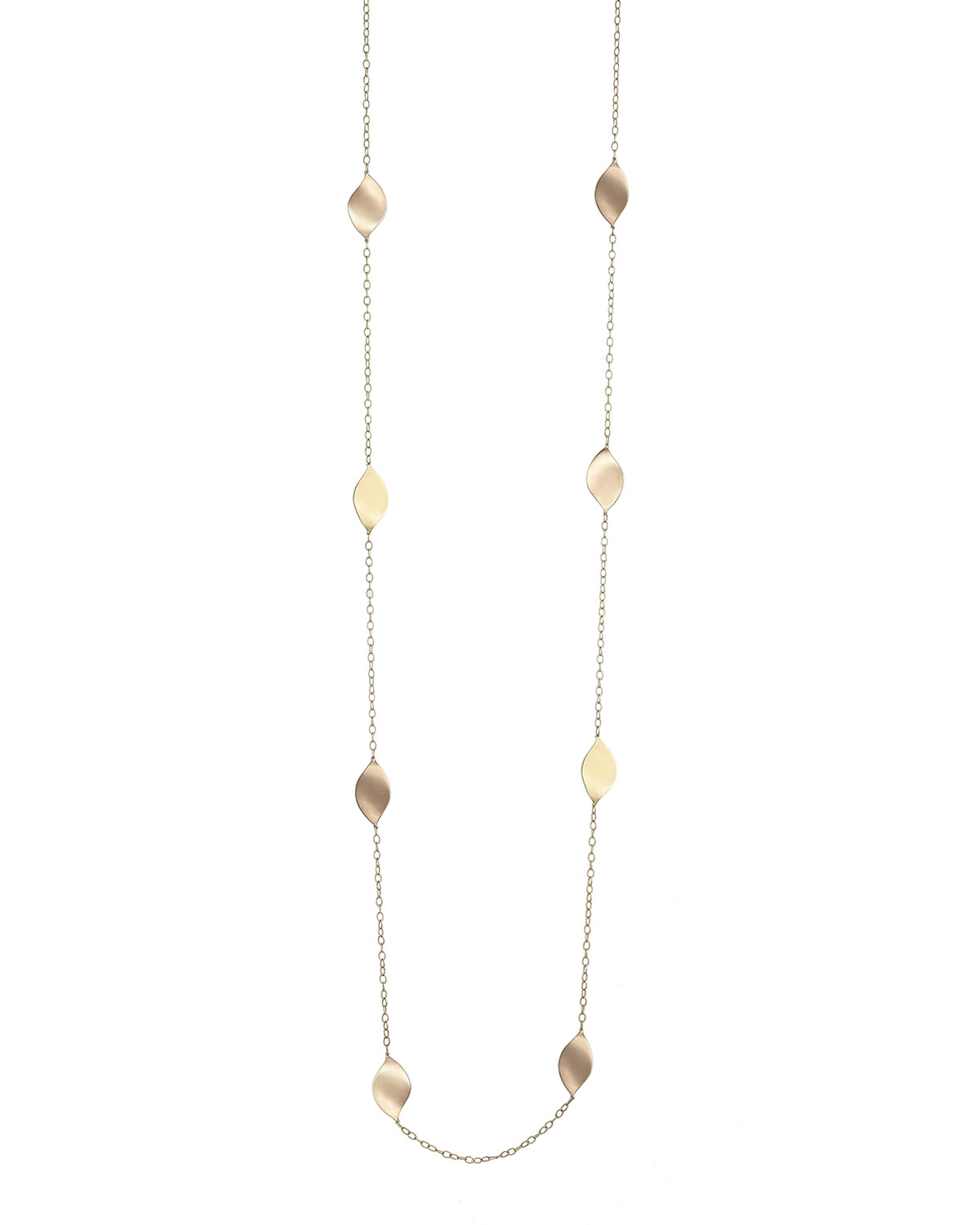 Long Lotus Station Necklace