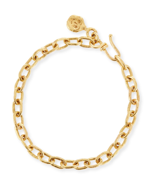 22k Gold Cadene 15 Chain Bracelet