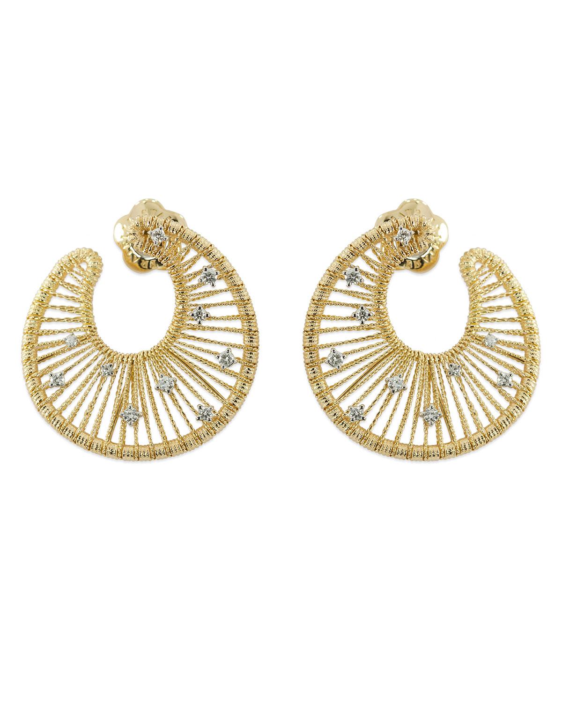 STAURINO FRATELLI 18K Gold Renaissance Swirl Earrings