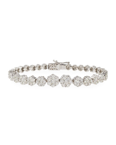 Mosaic Diamond Bracelet in 18K White Gold