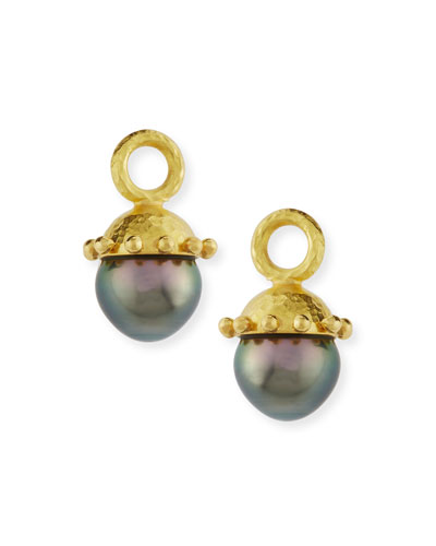 Black Pearl Earring Pendants