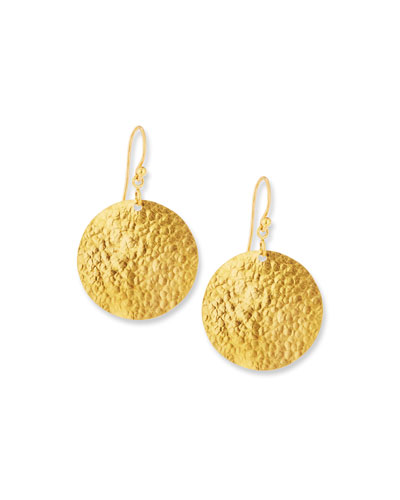 Classic Lush Dangling Flake Earrings in 24K Gold