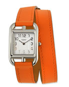 Cape Cod PM Watch with Orange Leather Strap