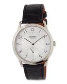 Slim d'Hermès GM Watch with Black Alligator Strap