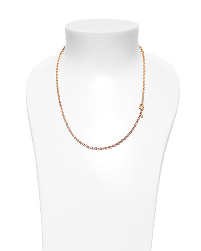 18K Rose Gold Eight Chain, 20