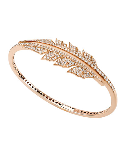 Magnipheasant Diamond Bracelet in 18K Rose Gold