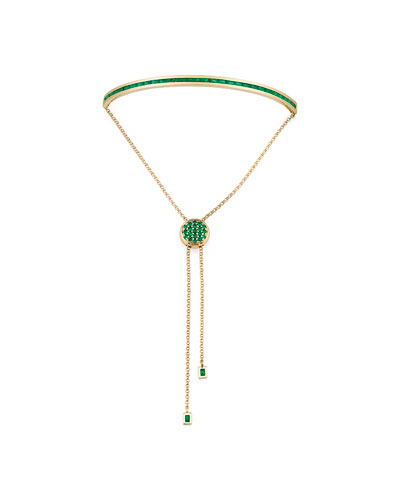 Baguette Emerald Toggle Bracelet in 18K Yellow Gold