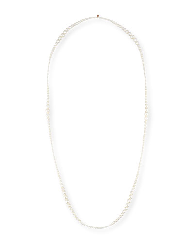 Tapered Single-Strand Pearl Necklace, 36
