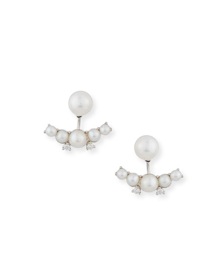 Utopia Pearl & Diamond Jacket Earrings