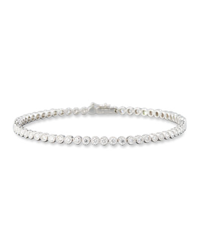 Diamond Line Bracelet in 18K White Gold