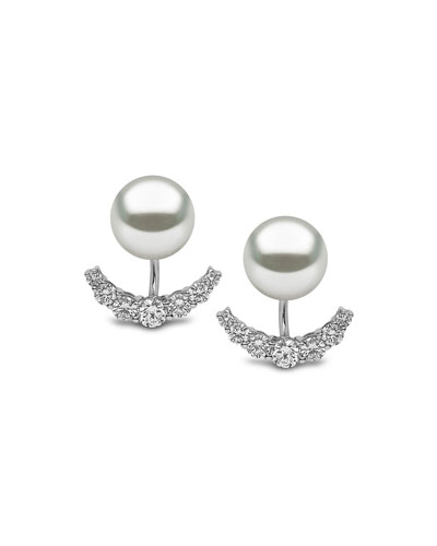 South Sea Pearl & Diamond Jacket Earrings