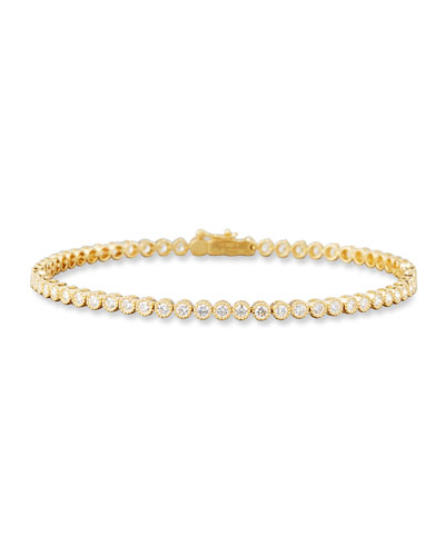 Diamond Line Bracelet in 18K Yellow Gold