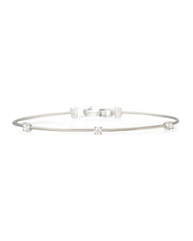 PAUL MORELLI 18K White Gold Three-Diamond Bracelet, 0.18 Tcw