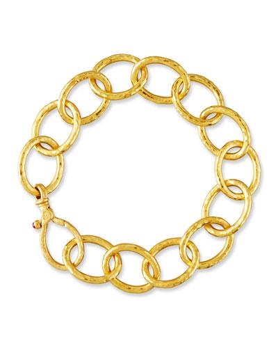 Hoopla 24K Gold Link Bracelet