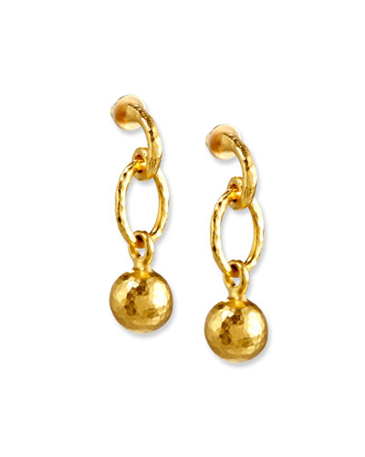 Balloon Drop Ball Earrings in 24K Gold