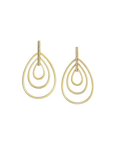 Carelle Moderne 18k Diamond Teardrop Earrings