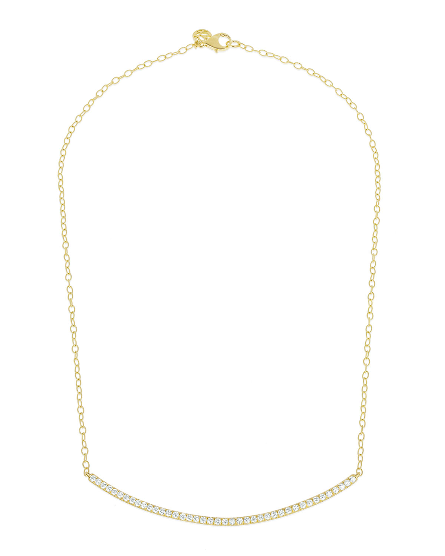 CARELLE MODERNE 18K DIAMOND BAR NECKLACE