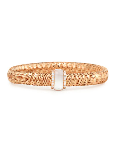 Primavera 18K Rose Gold Mother-of-Pearl & Diamond Station Bracelet