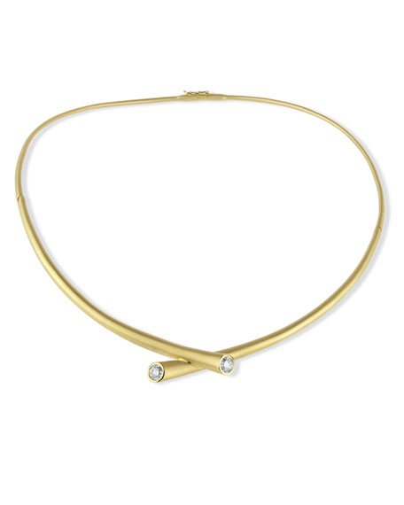 Carelle 18k Gold Collar Necklace with Diamonds