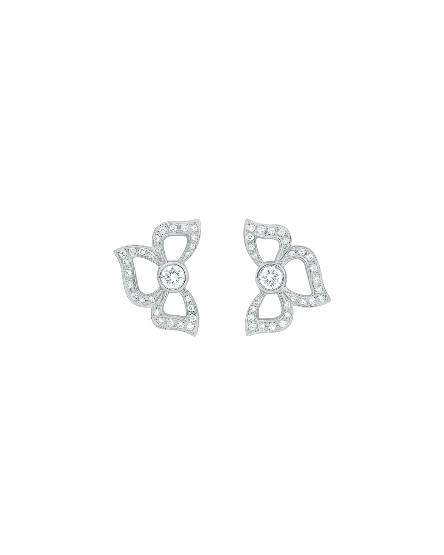 CARELLE FLORETTE PAVÉ DIAMOND STUD EARRINGS